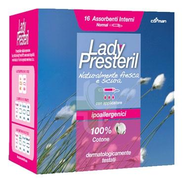 Lady Presteril Linea Pocket Assorbente Puro Cotone 16 Assorbenti Interni Normal