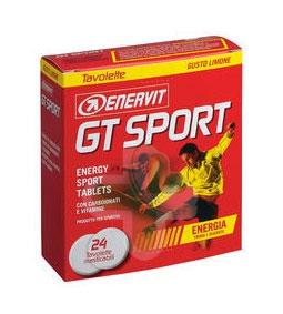 Enervit Sport Linea Energia GT Sport Integratore 24 Tavolette Energizzanti Limon