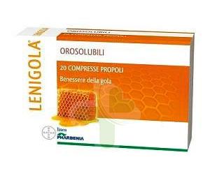 Lenigola Linea Propoli Benessere Gola 20 Compresse Orosolubili Latte Miele