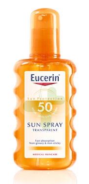 Eucerin Linea Solare Pelli Sensibili SPF50 Lozione Trasparente Spray 200 ml