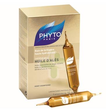 Phyto Linea Capelli Secchi Huile D'Ales Olio Idratante Nutriente 5 Fiale 10 ml