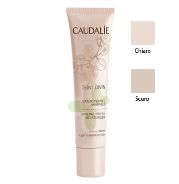 Caudalie Linea Make-up Teint Divine Crema Colorata Minerale Colore Scuro 30 ml