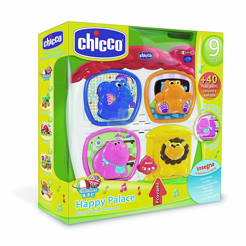 Chicco Linea Giochi Happy Colors Happy Palace Puzzle Forme ed Incastri