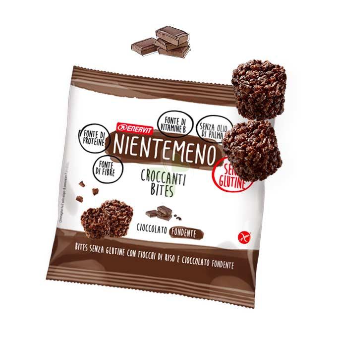 Enervit Linea no Glutine Nientemeno Bites Fiocchi Riso Cioccolato Fondente 23 g